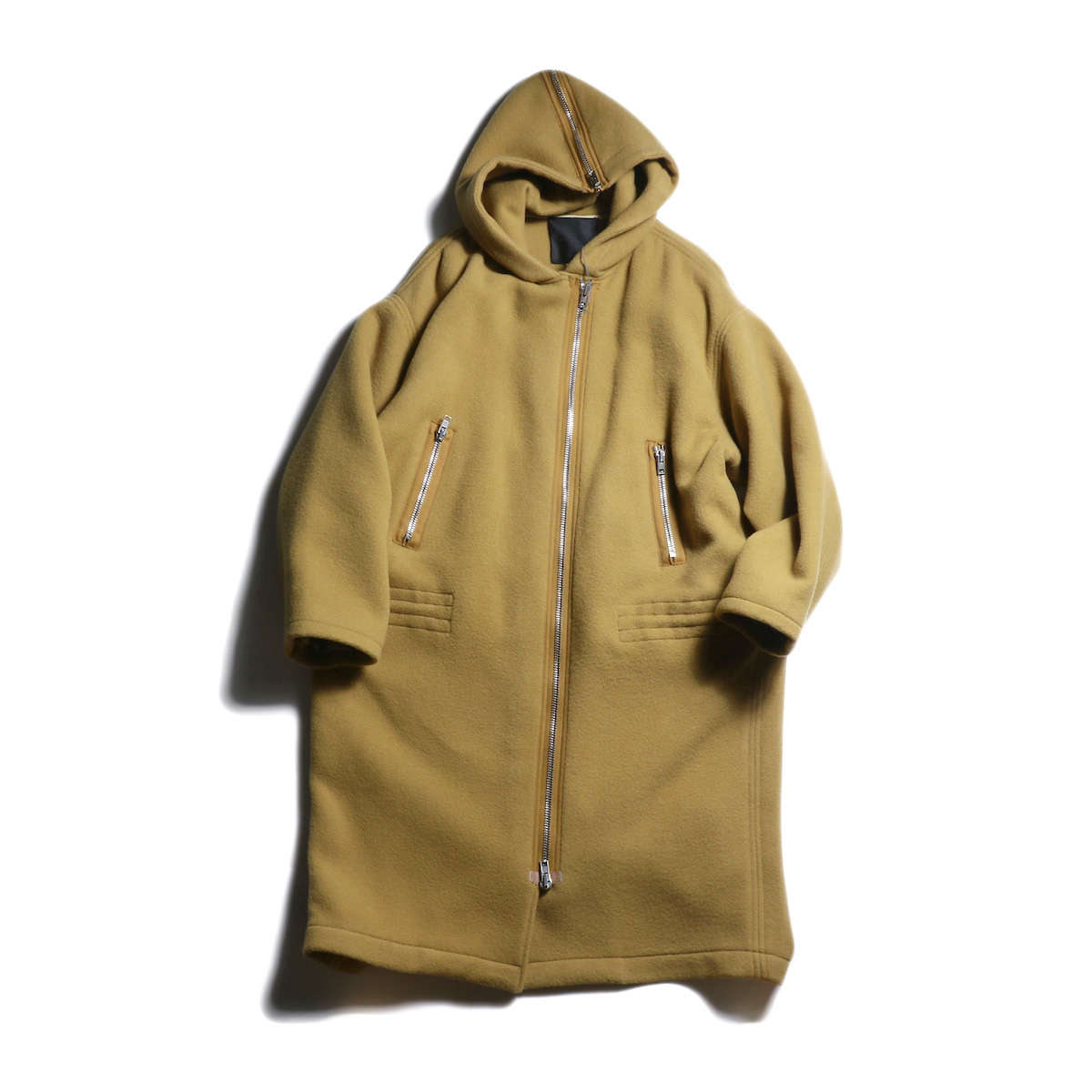 UNUSED Ladie's / US1655 Hood Coat (Camel)