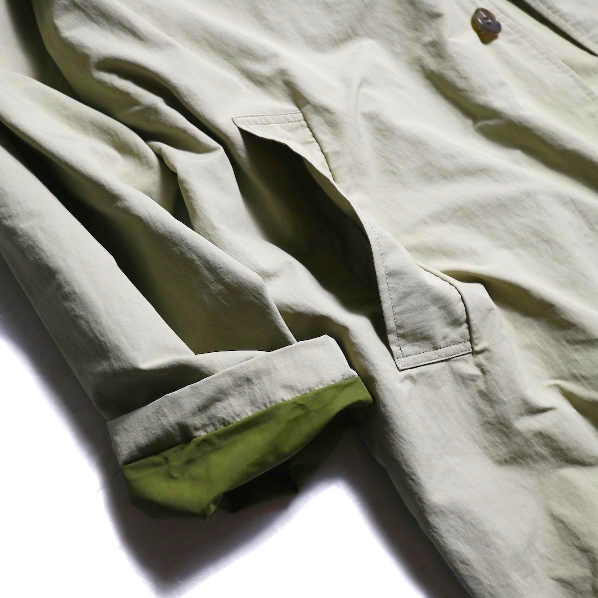 ポケット、袖