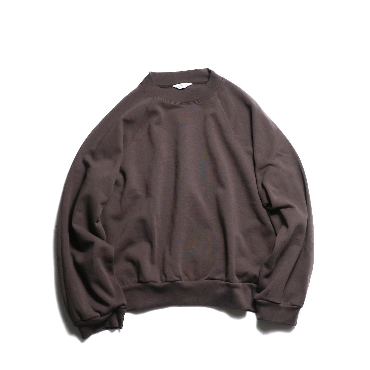 UNUSED / US1678 crew neck sweat shirt. -Brown