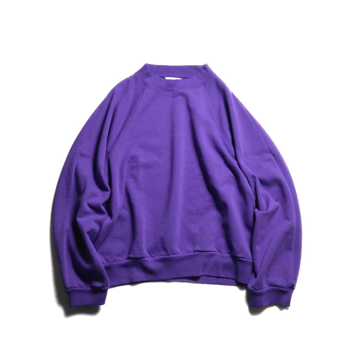 UNUSED / US1678 crew neck sweat shirt. -Purple