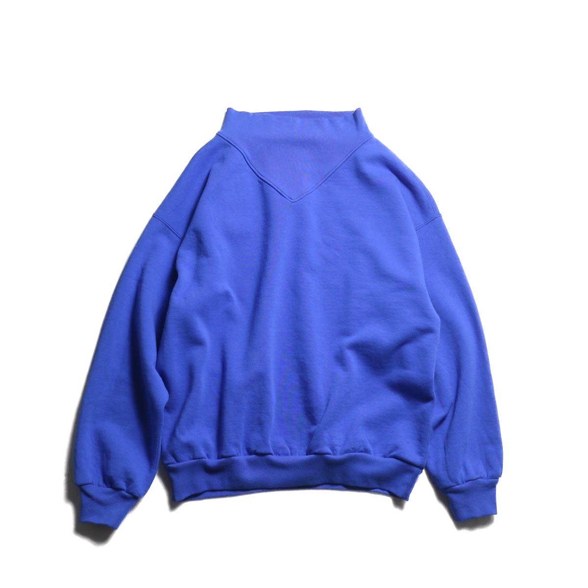 UNUSED / US1679 crew neck sweat shirt / women's. -Blue