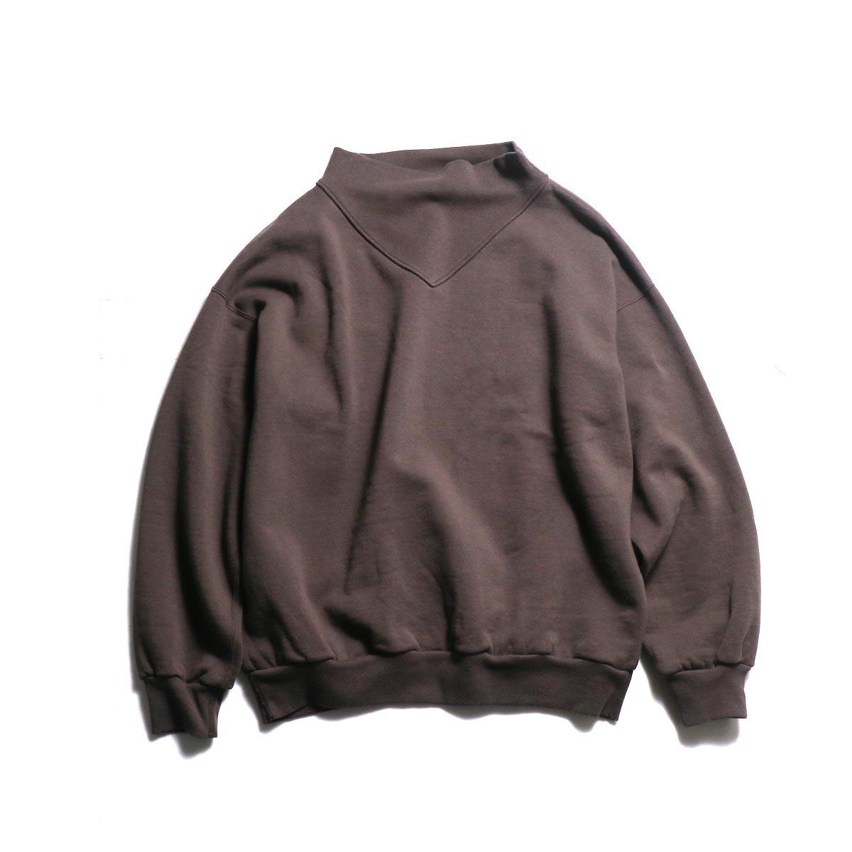 UNUSED / US1679 crew neck sweat shirt / women's. -Brown