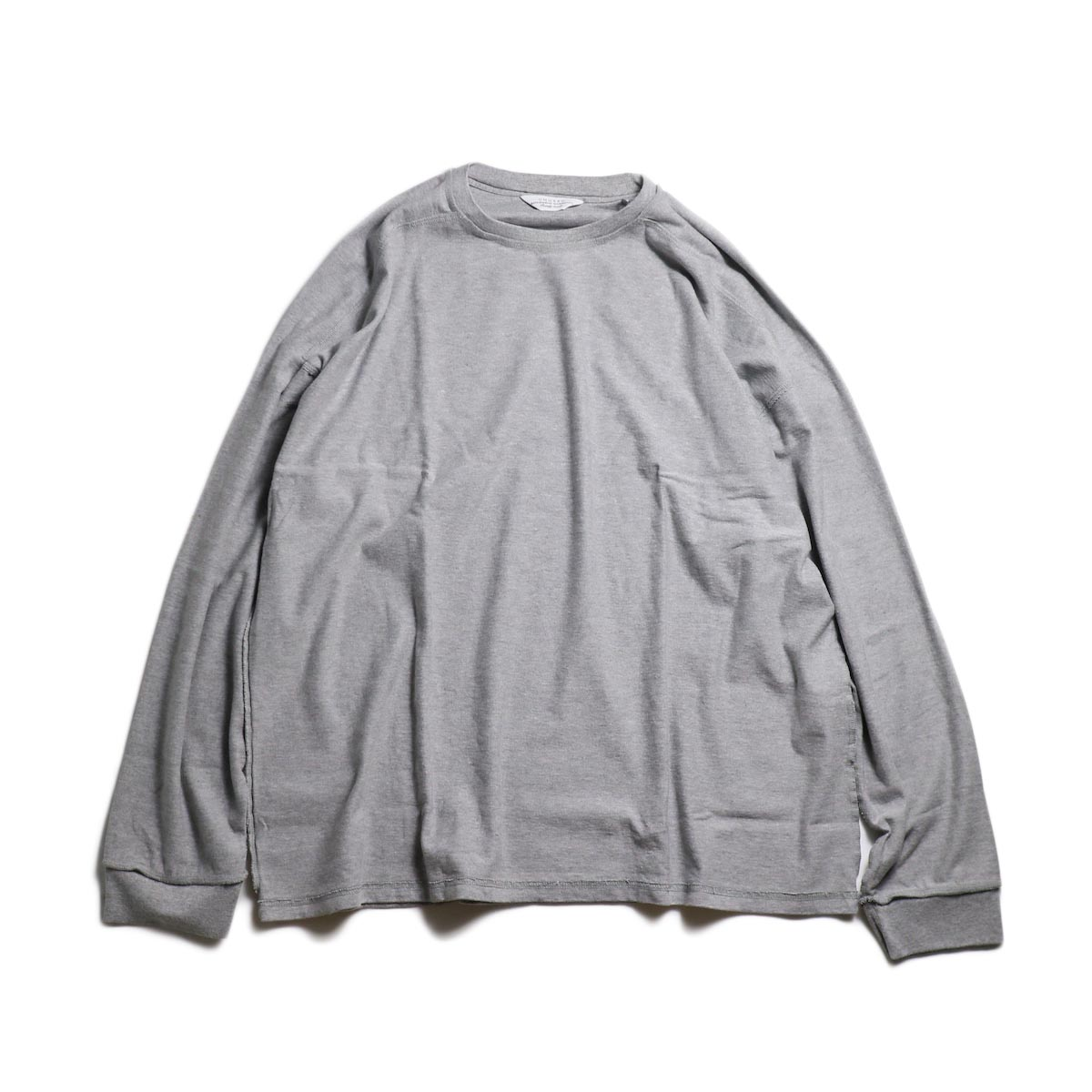 UNUSED / US1686 Long Sleeve T-Shirt -Heather Gray