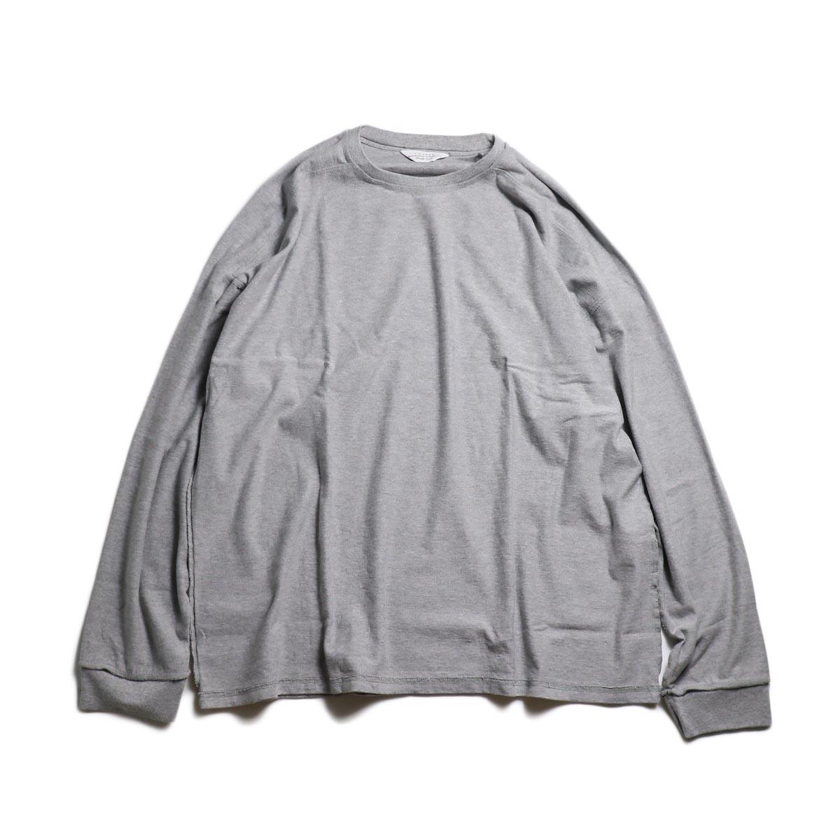 UNUSED / US1686 Long Sleeve T-Shirt -Heather Gray
