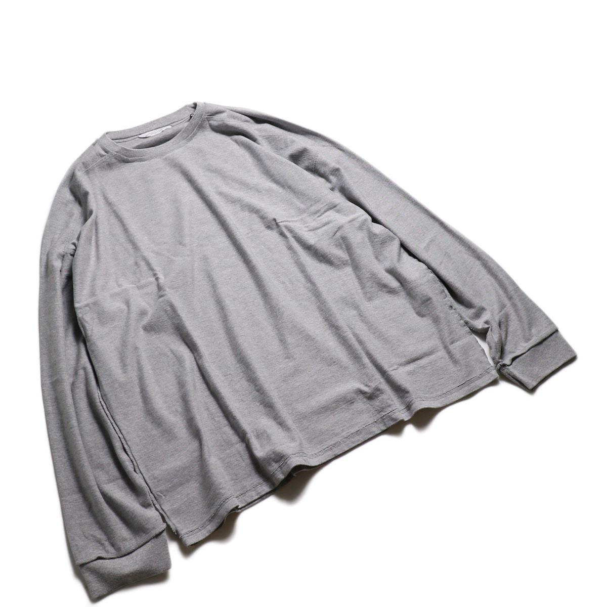 UNUSED / US1686 Long Sleeve T-Shirt -Heather Gray 全体
