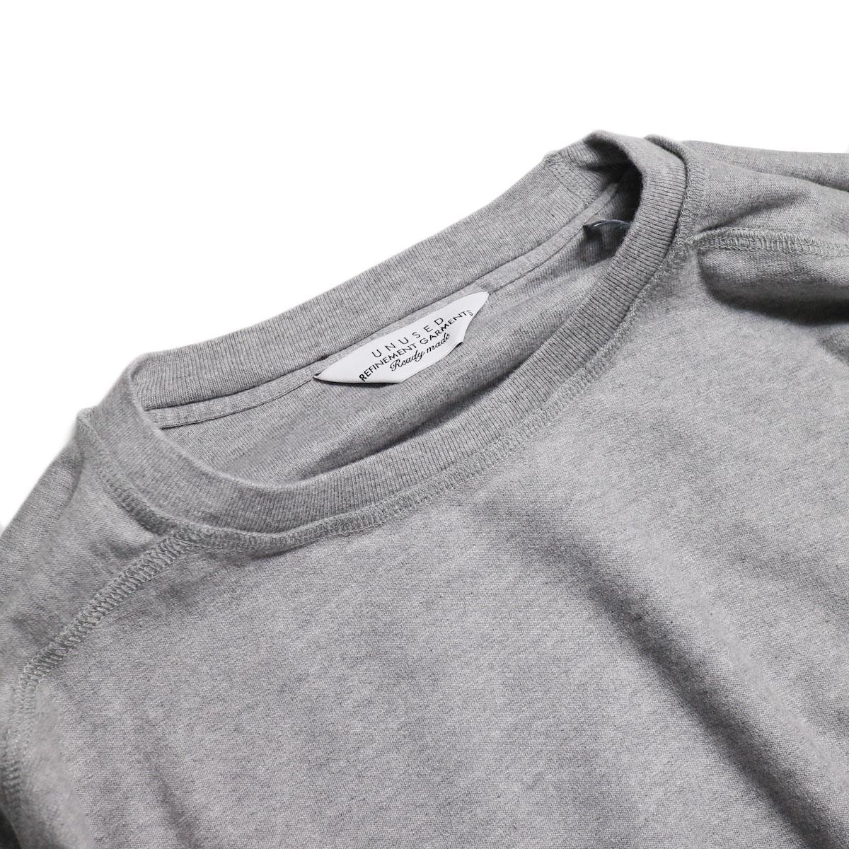 UNUSED / US1686 Long Sleeve T-Shirt -Heather Gray 襟