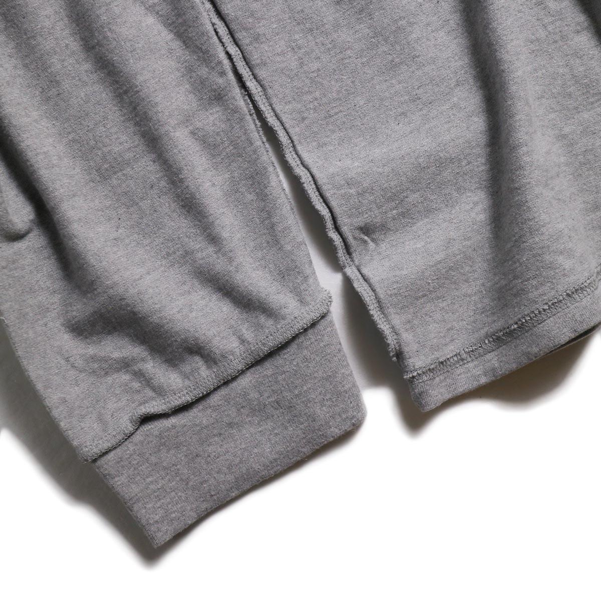 UNUSED / US1686 Long Sleeve T-Shirt -Heather Gray 袖リブ