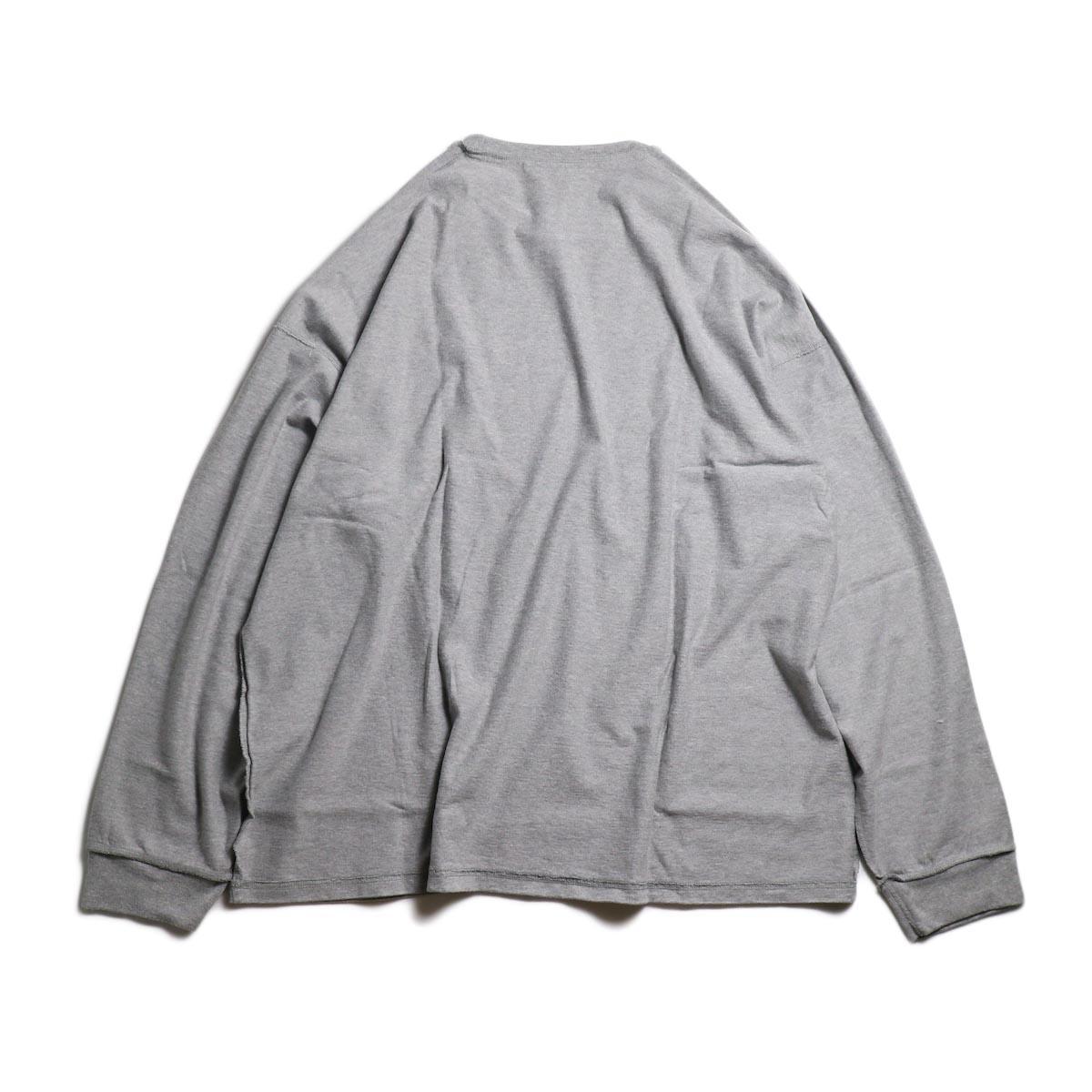 UNUSED / US1686 Long Sleeve T-Shirt -Heather Gray 背面