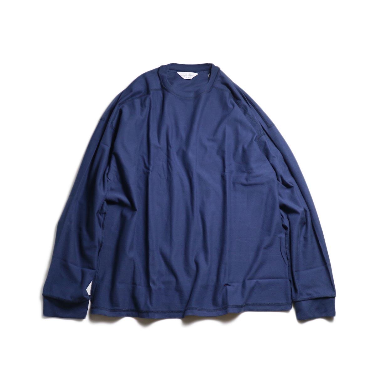 UNUSED / US1686 Long Sleeve T-Shirt -Navy 正面
