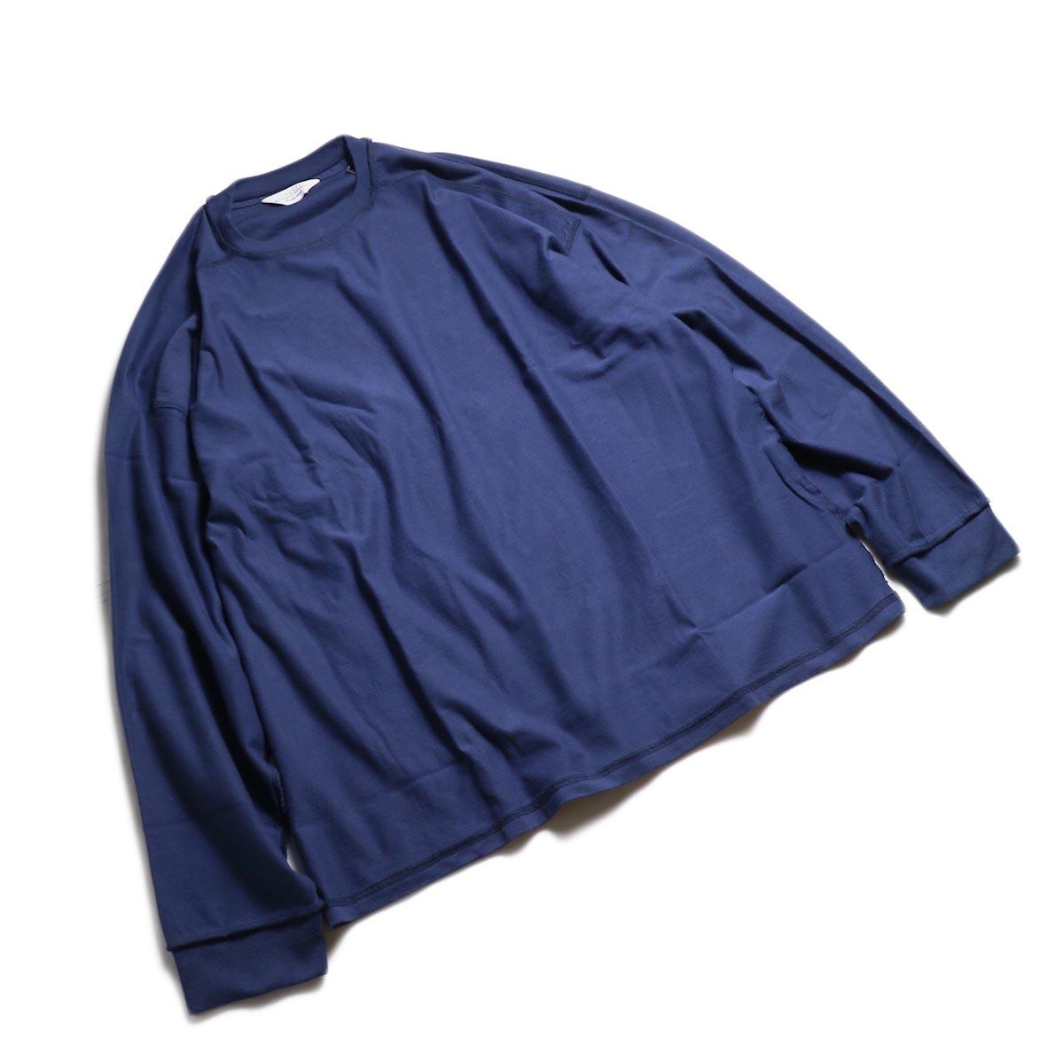 UNUSED / US1686 Long Sleeve T-Shirt -Navy 全体