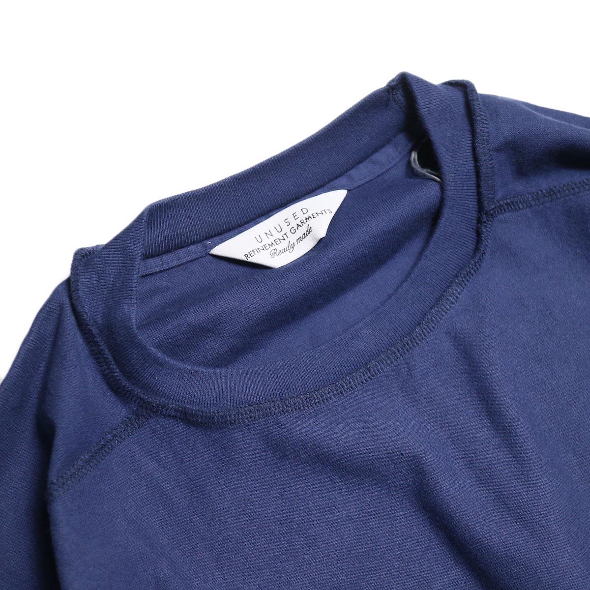UNUSED / US1686 Long Sleeve T-Shirt -Navy 襟