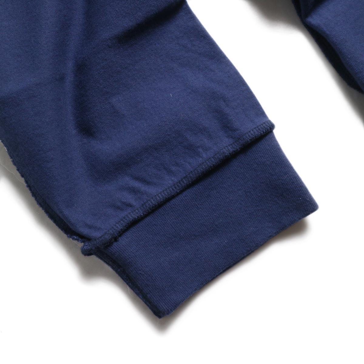 UNUSED / US1686 Long Sleeve T-Shirt -Navy 袖リブ