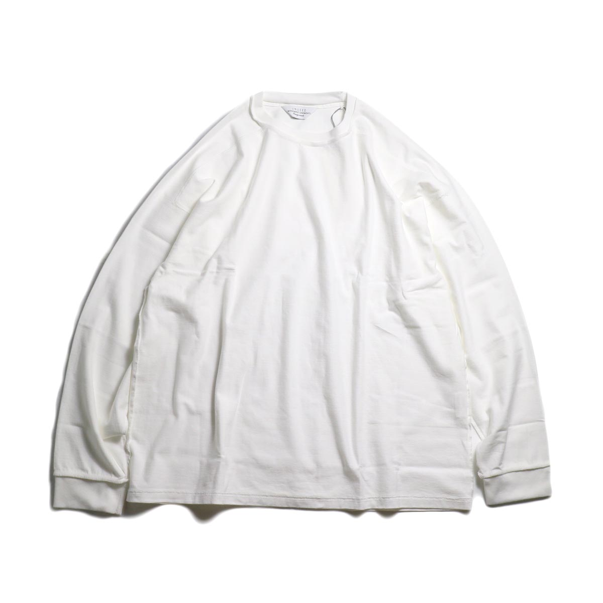 UNUSED / US1686 Long Sleeve T-Shirt -White