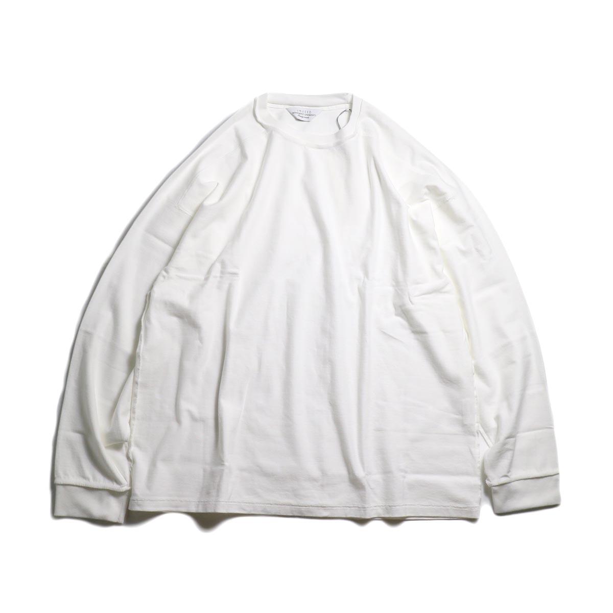 UNUSED / US1686 Long Sleeve T-Shirt -White 正面