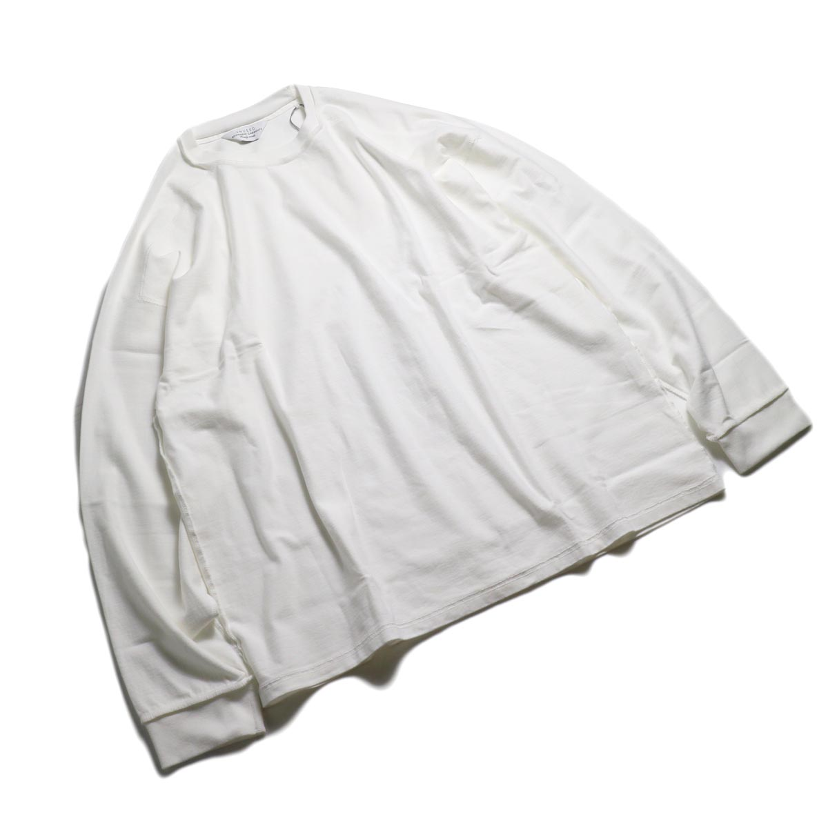 UNUSED / US1686 Long Sleeve T-Shirt -White 全体