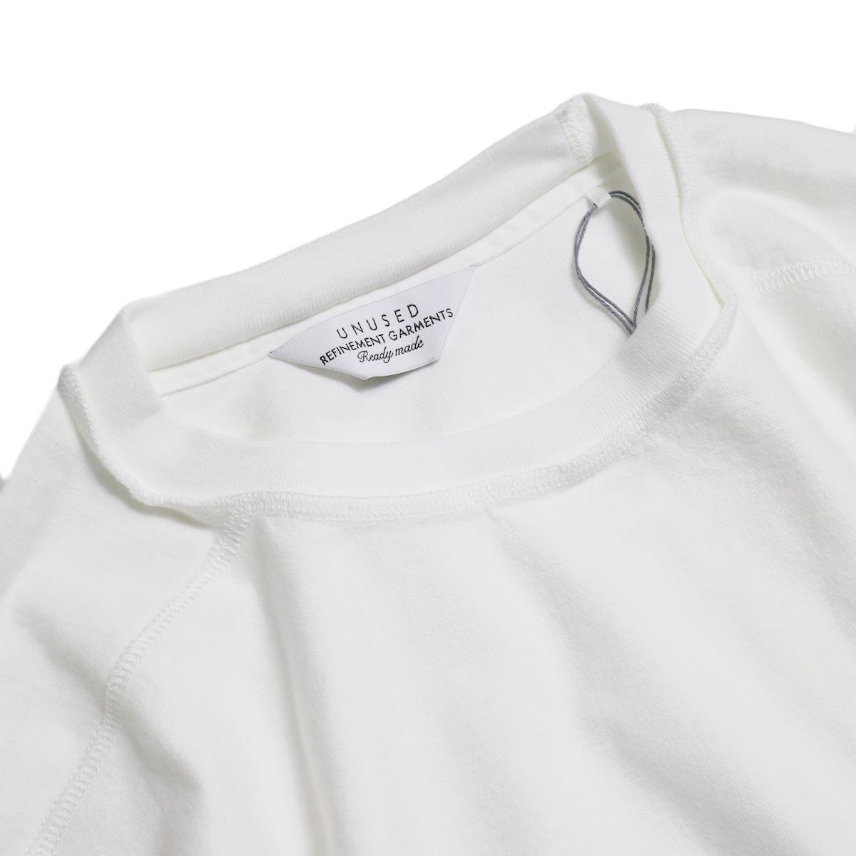 UNUSED / US1686 Long Sleeve T-Shirt -White 襟