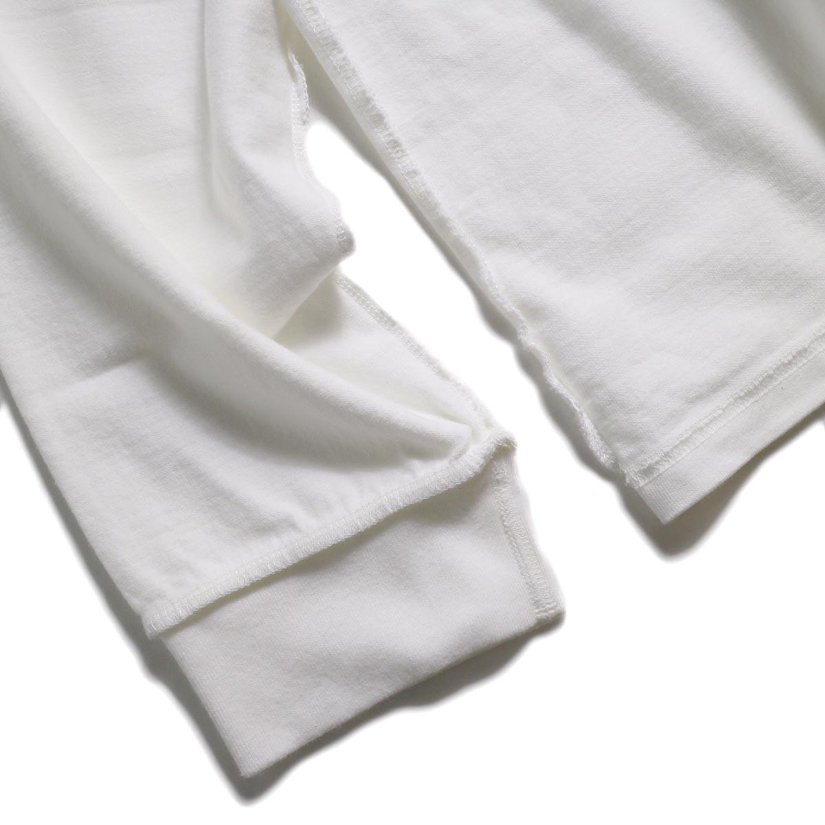 UNUSED / US1686 Long Sleeve T-Shirt -White 袖リブ