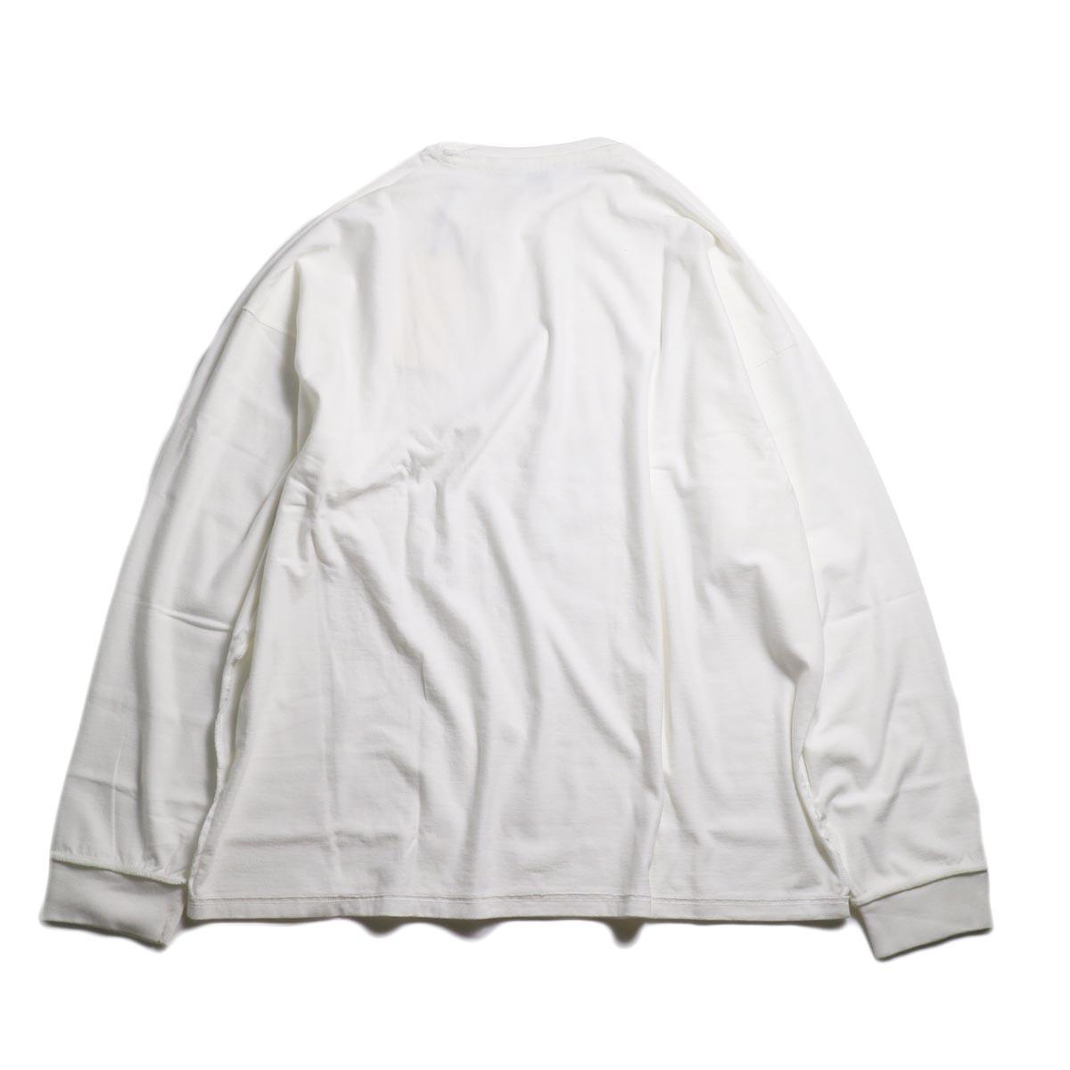 UNUSED / US1686 Long Sleeve T-Shirt -White 背面