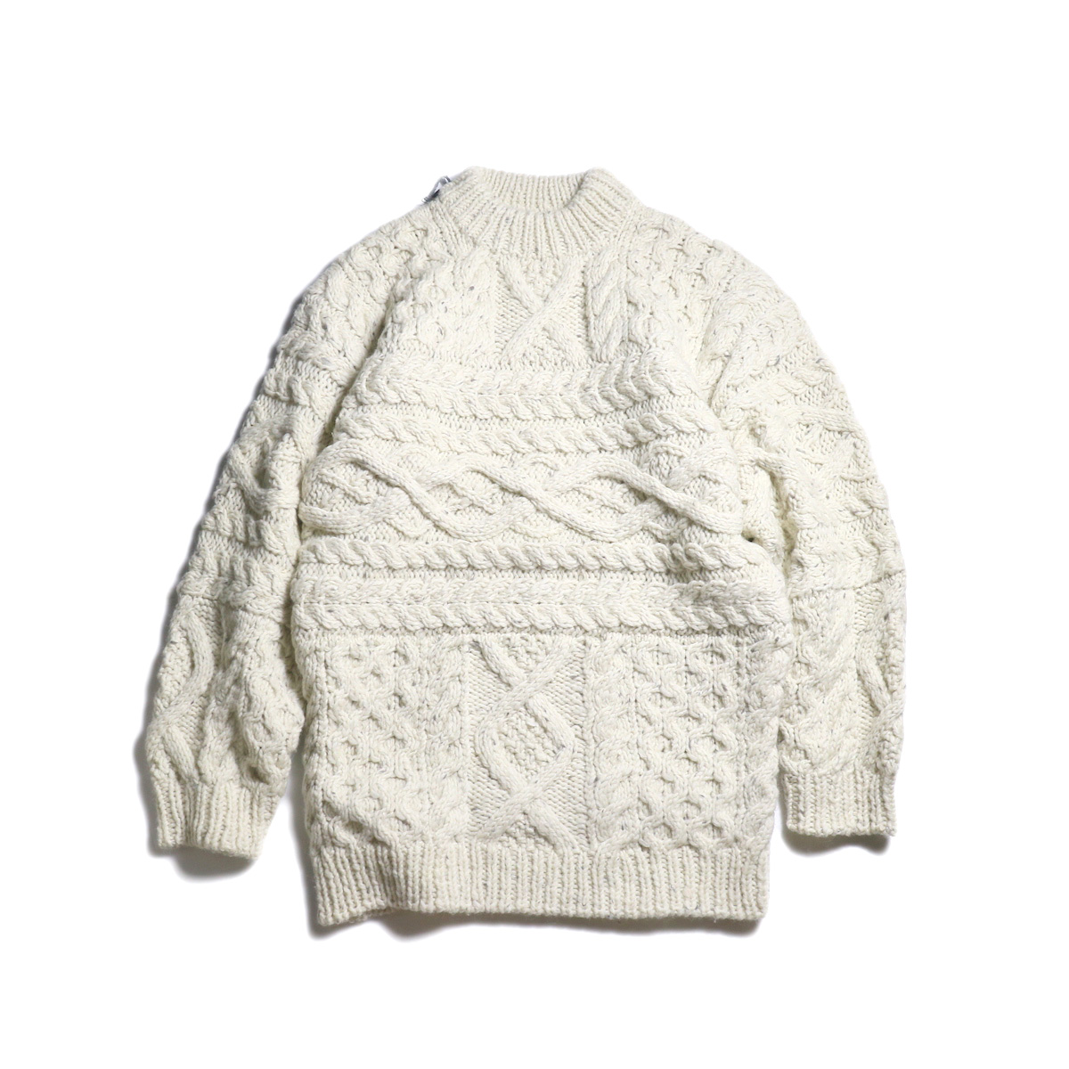 UNUSED Ladie's / US1703 Hand Knit Cable Sweater (Off White)
