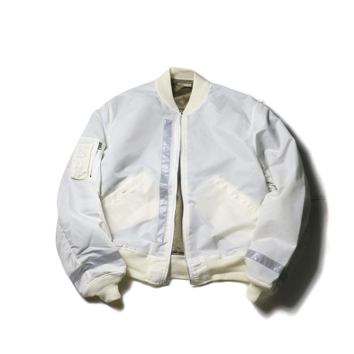 UNUSED Ladie's × BUZZ RICKSON'S / US1715 Reversible Flight Jacket (White)
