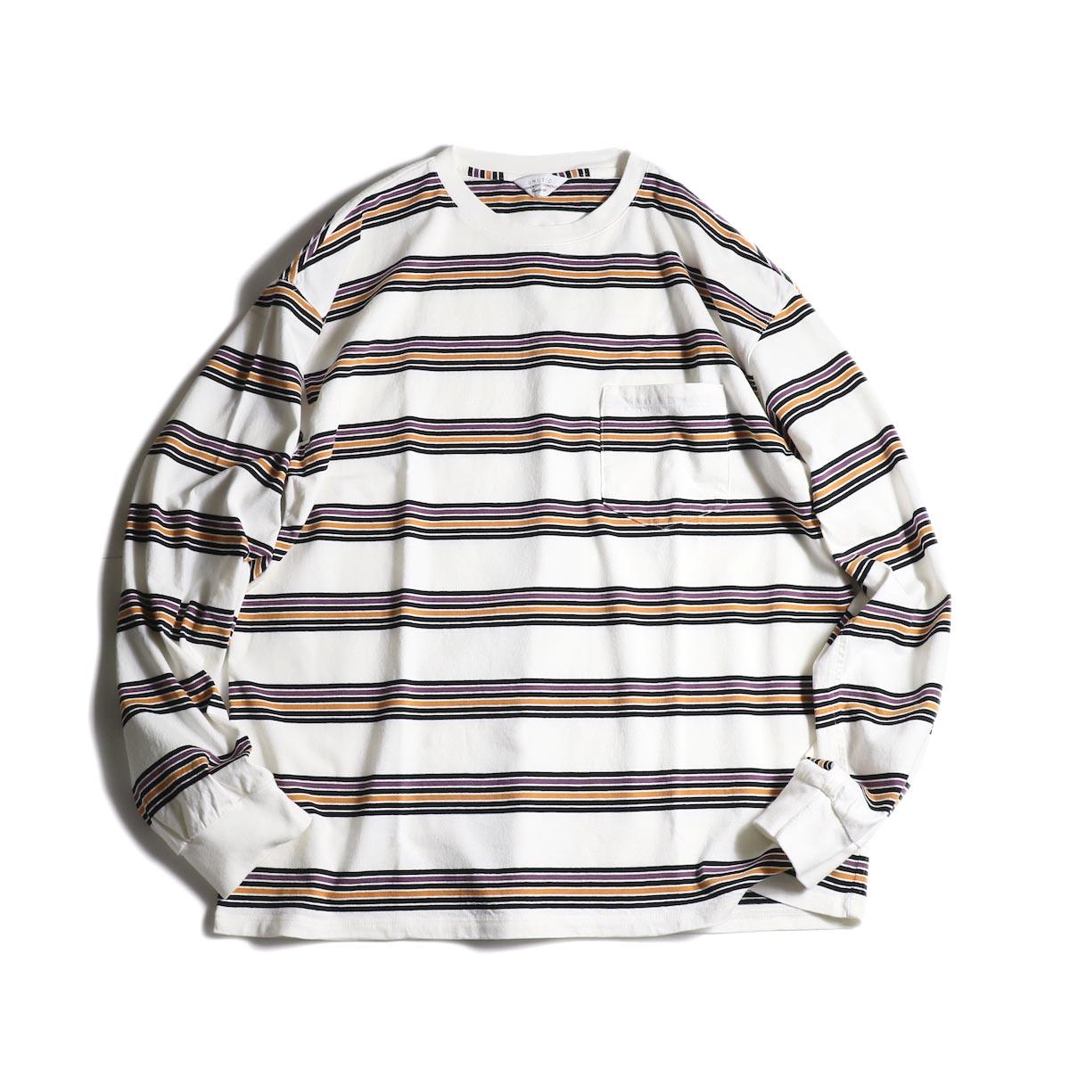UNUSED / US1726 long sleeve border t-shirts (Off White)