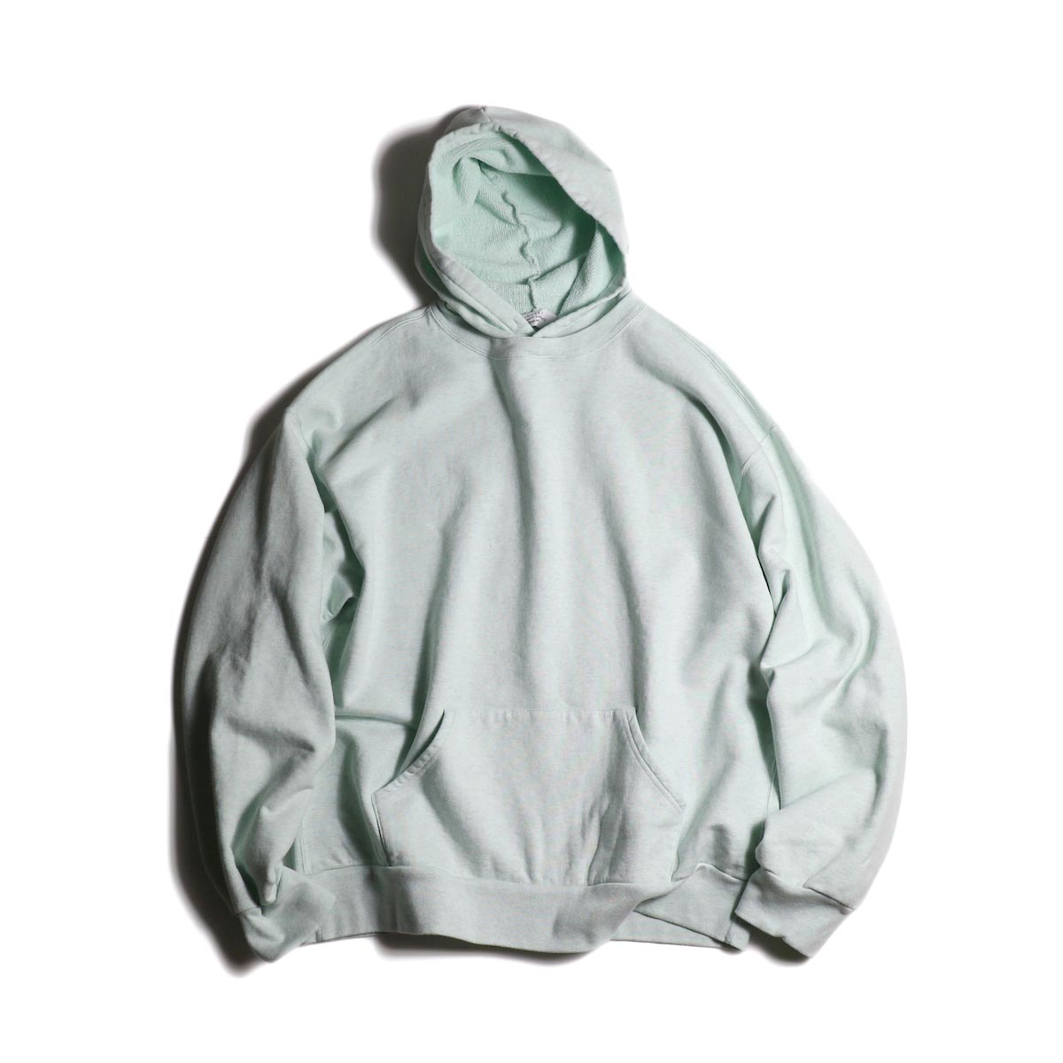 UNUSED / US1736 sweat hoodie (Melange Green)正面