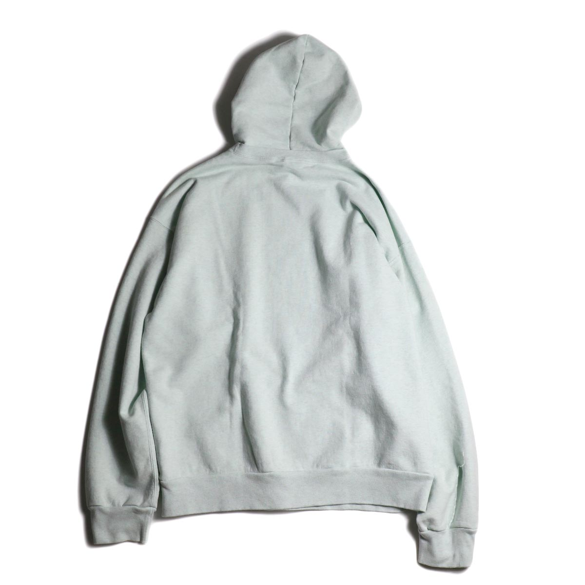 UNUSED / US1736 sweat hoodie (Melange Green)背面