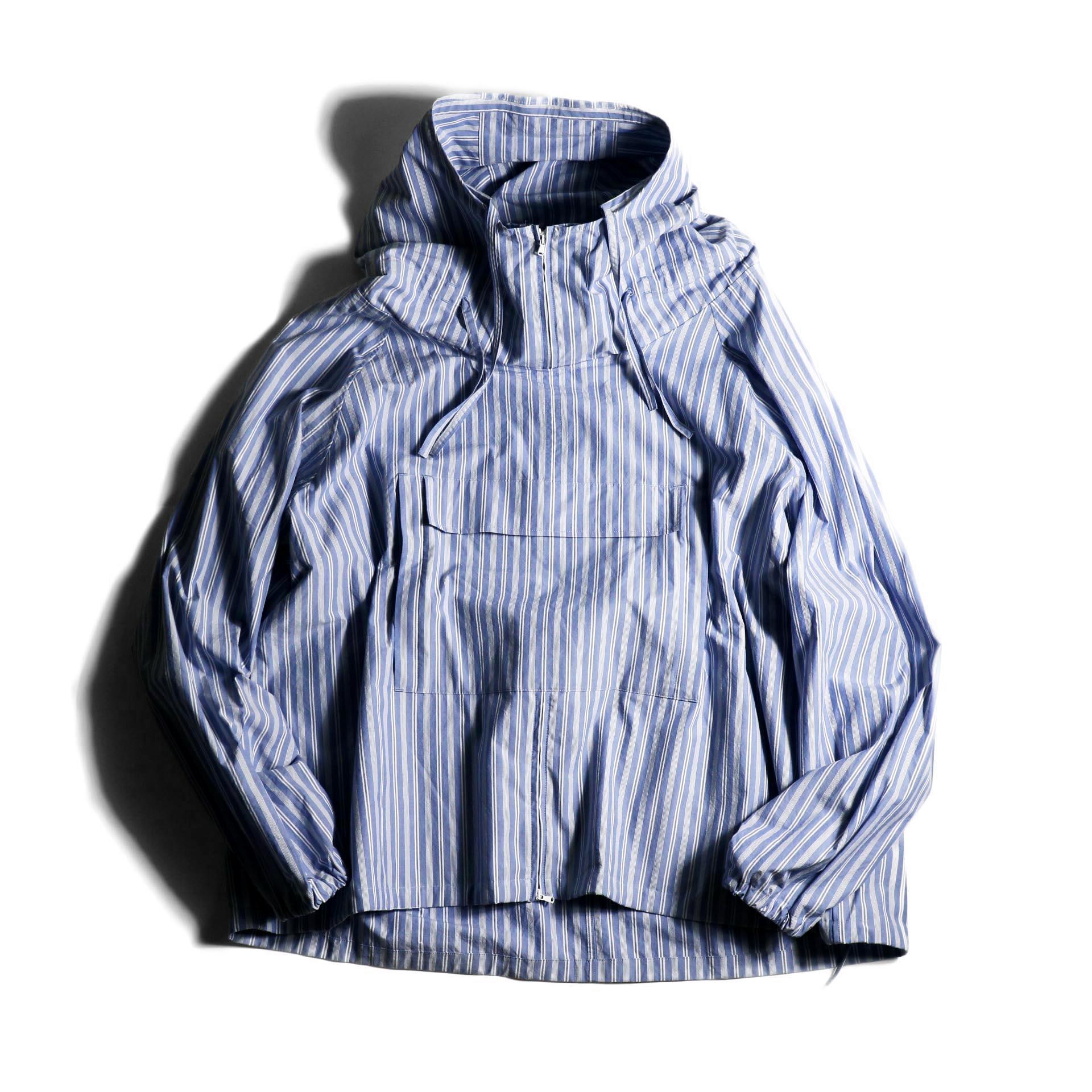 UNUSED / US1793 Shirt Anorak (Sax Stripe) 正面