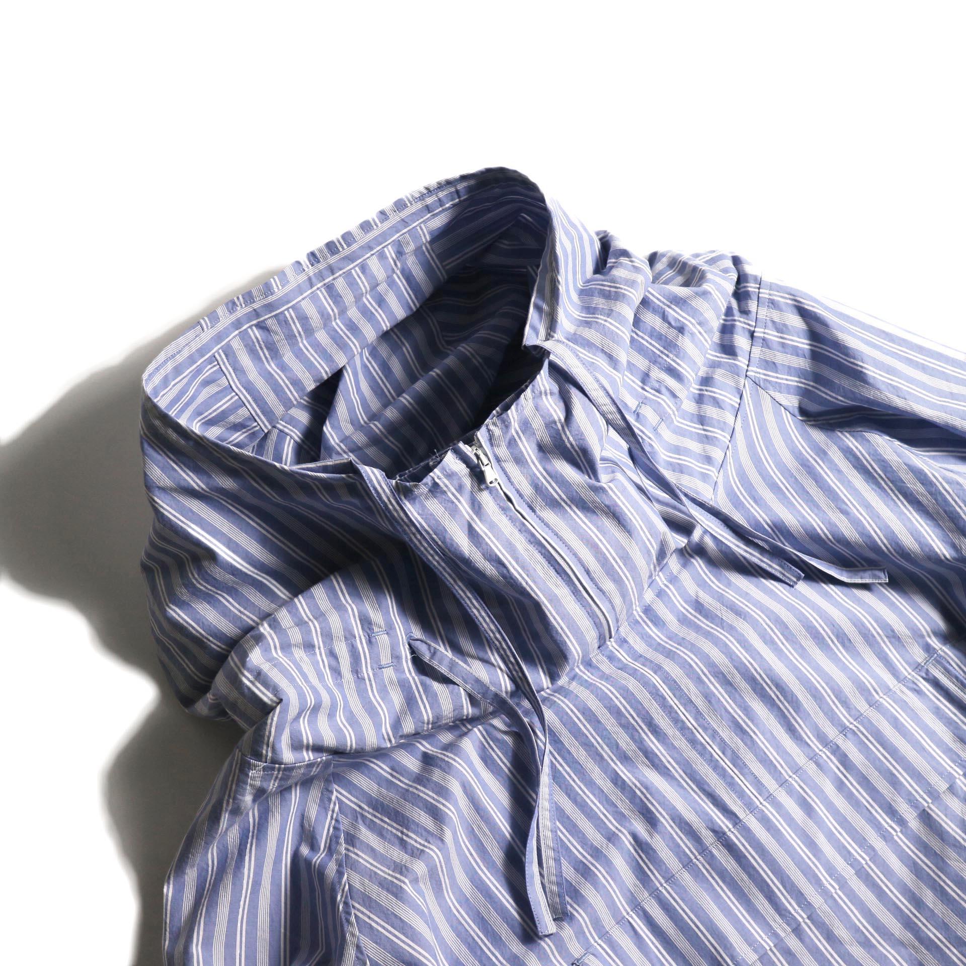 UNUSED / US1793 Shirt Anorak (Sax Stripe) フードまわり