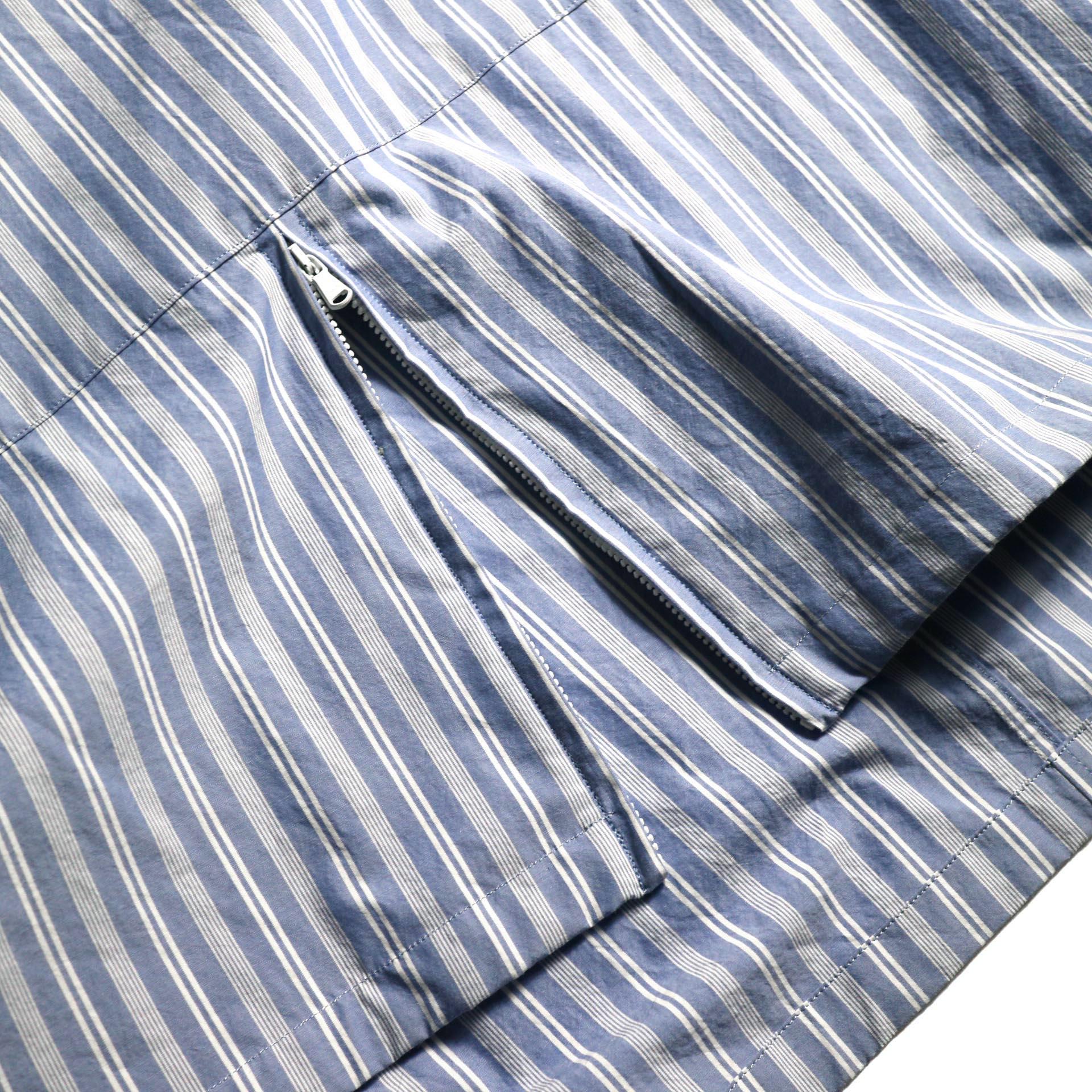 UNUSED / US1793 Shirt Anorak (Sax Stripe) 裾zip