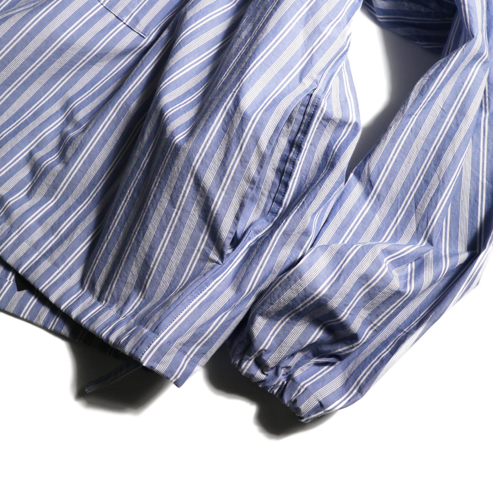 UNUSED / US1793 Shirt Anorak (Sax Stripe) サイドポケット