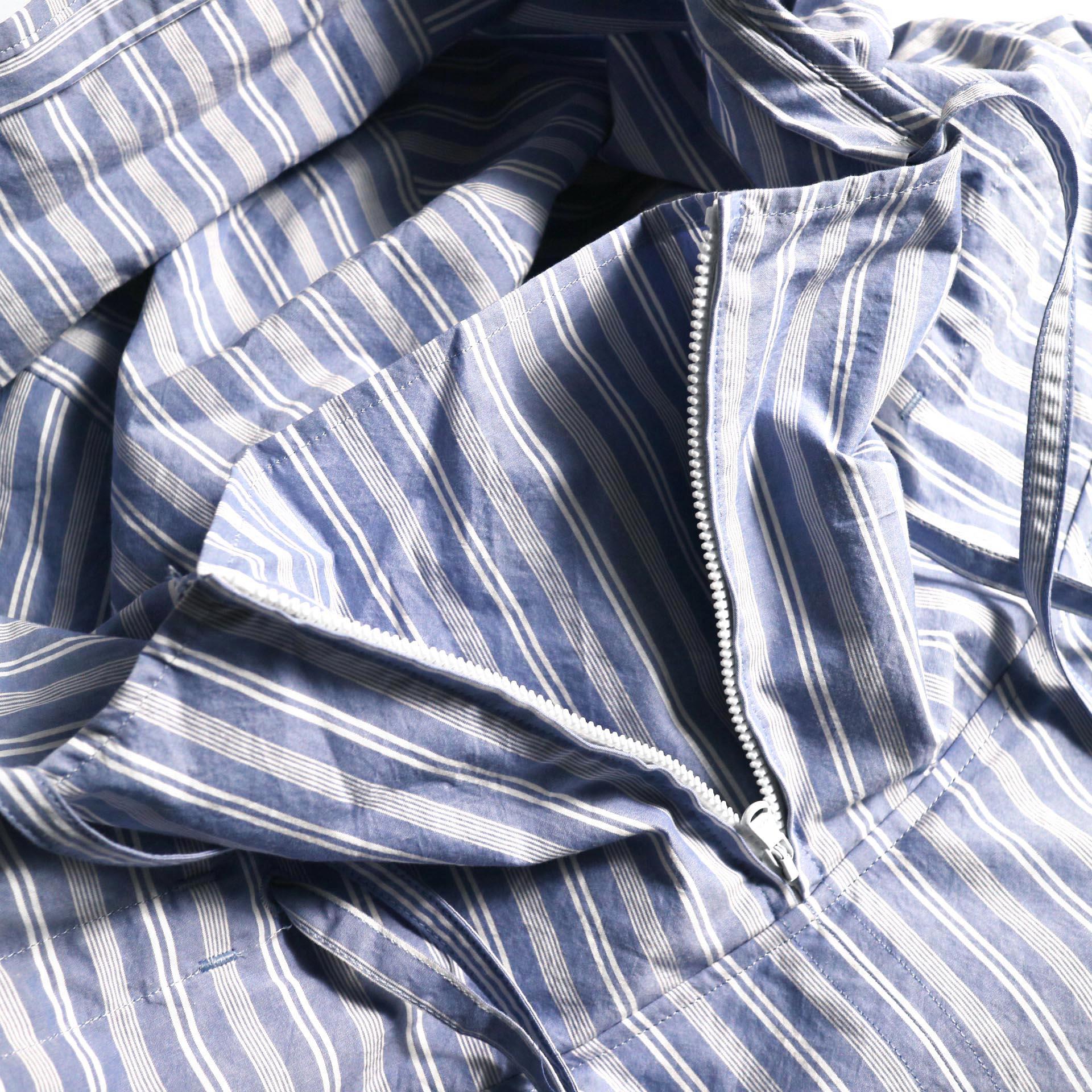 UNUSED / US1793 Shirt Anorak (Sax Stripe) ネックzip