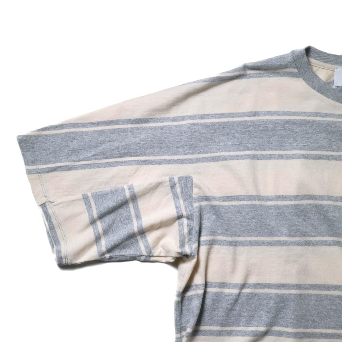 UNUSED / US1951 Dolman sleeve Short sleeve t-shirt (Gray × Beige)袖