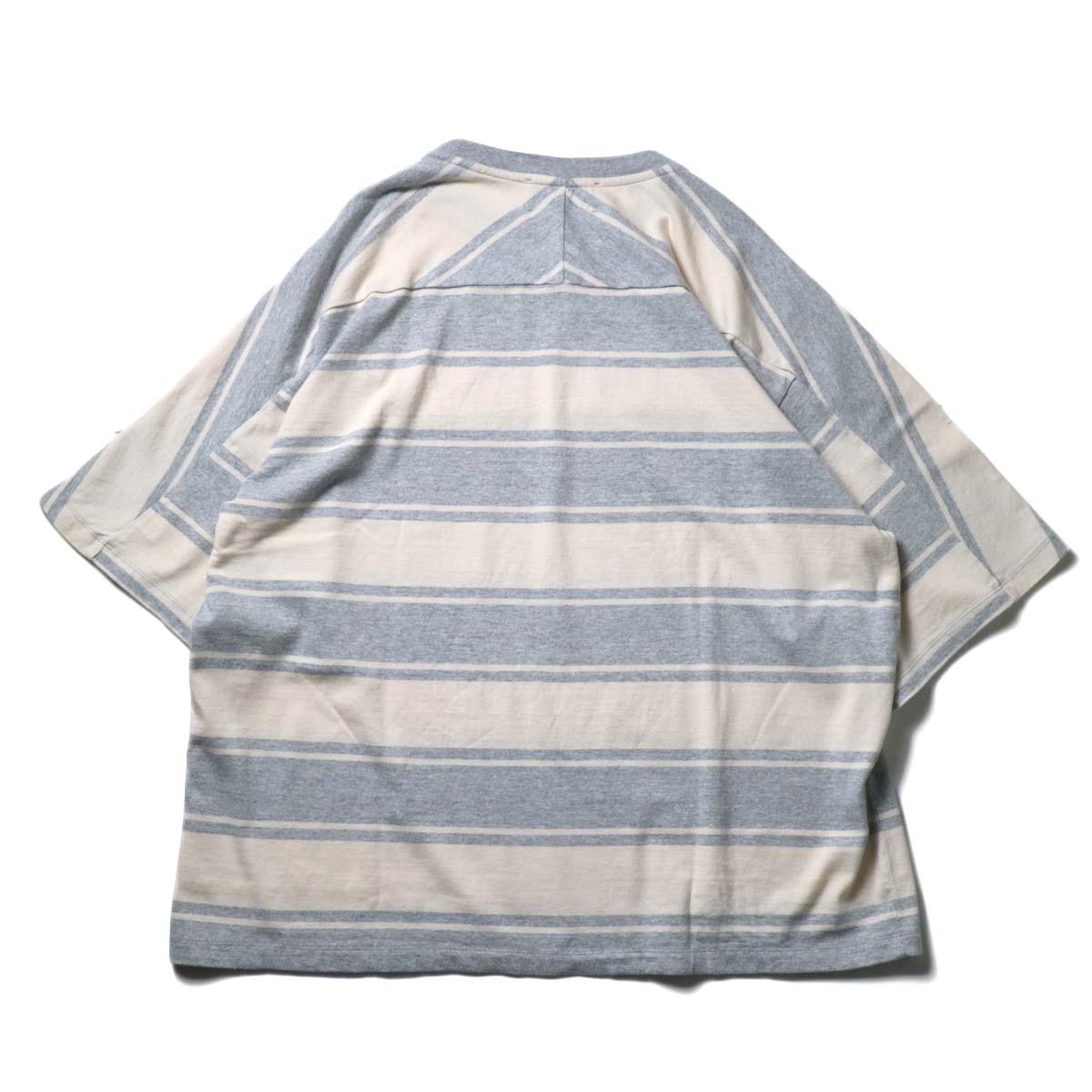 UNUSED / US1951 Dolman sleeve Short sleeve t-shirt (Gray × Beige)背面