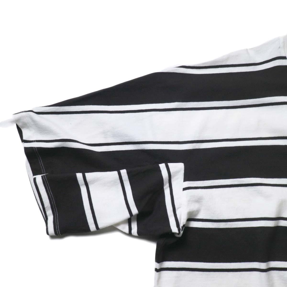 UNUSED / US1951 Dolman sleeve Short sleeve t-shirt (White×Black)袖
