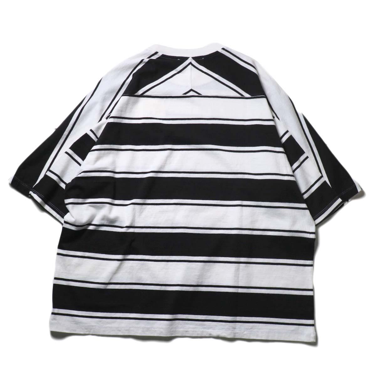 UNUSED / US1951 Dolman sleeve Short sleeve t-shirt (White×Black)背面