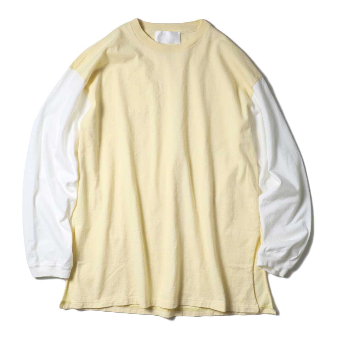 UNUSED / US1957 Long sleeve t-shirt.  (Yellow×White)