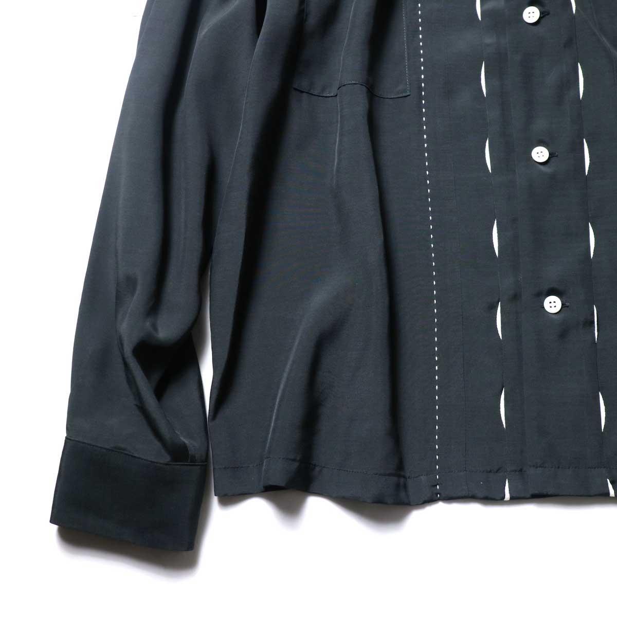 UNUSED / US1974 Rayon Shirt. (Black)袖、裾