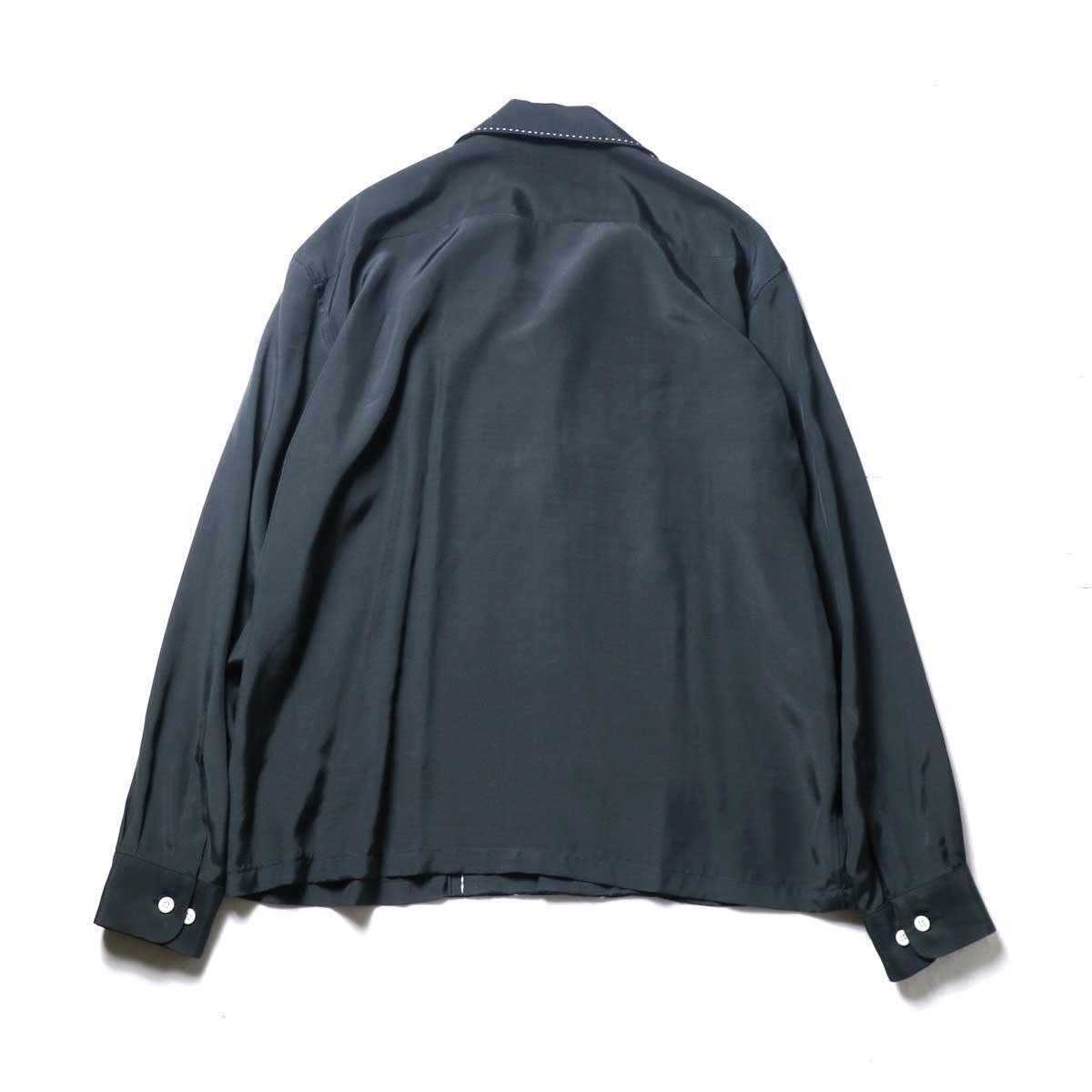UNUSED / US1974 Rayon Shirt. (Black)背面