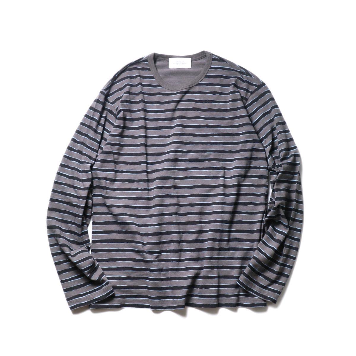 UNUSED / US2019 Border L/S Tee (Charcoal × Black)