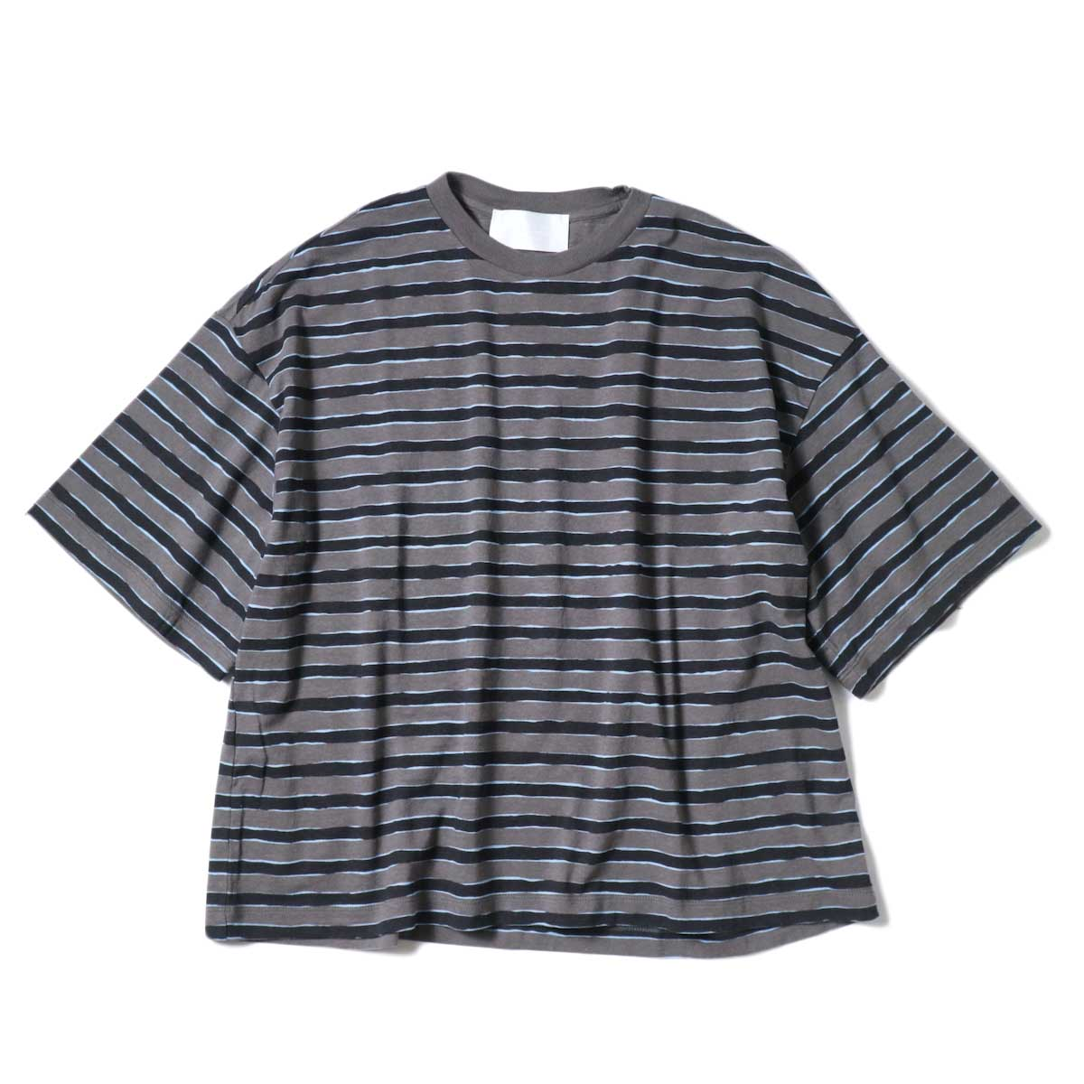 (Ladie's) UNUSED / US2022 Border S/S Tee (Charcoal × Black)