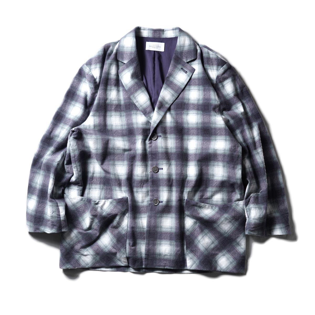 UNUSED / US2050 Cotton Printed Flannel 3B Jacket (Purple)