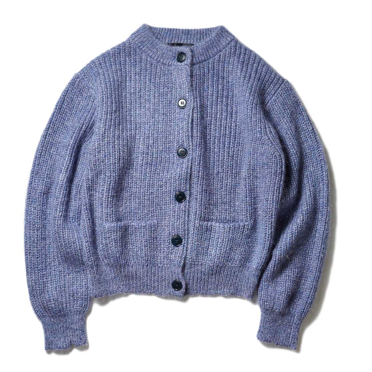 UNUSED / US2078 Kid Mohair Cardigan (Blue Mix)