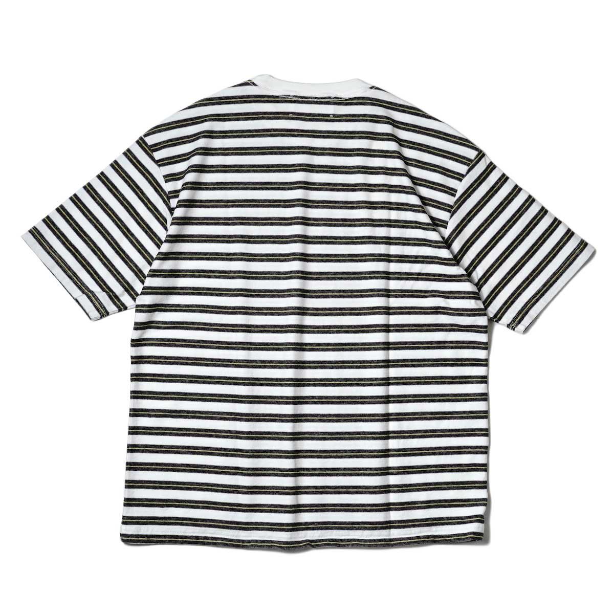 UNUSED / US2109 S/S Border Tee (White × Black) 背面