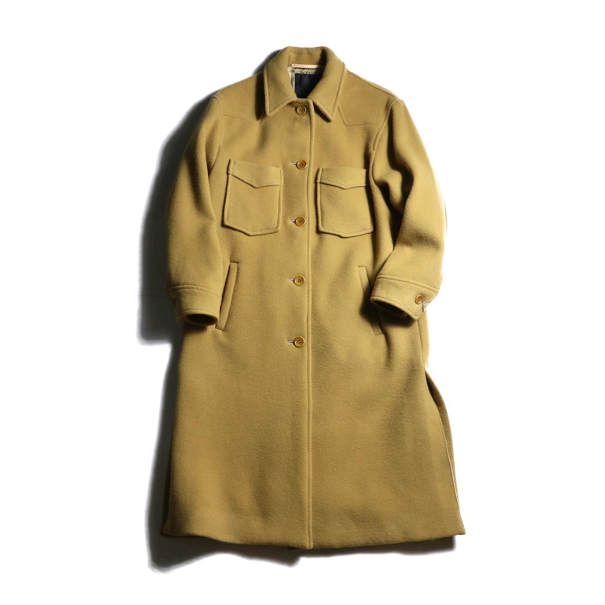 UNUSED Ladie's / US1710 Wool Coat (Beige)