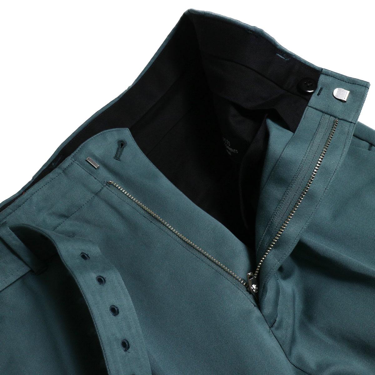 UNUSED / UW0840 Belted Pants (Green) ジップフライ