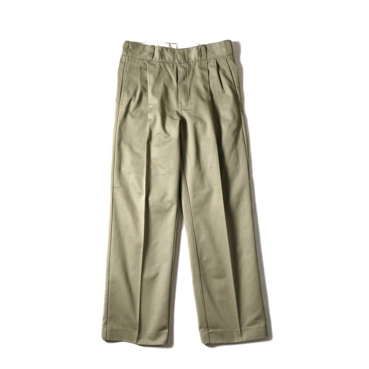 UNUSED / UW0913 Unused x Dickies  2Tuck Pants (Beige) 正面