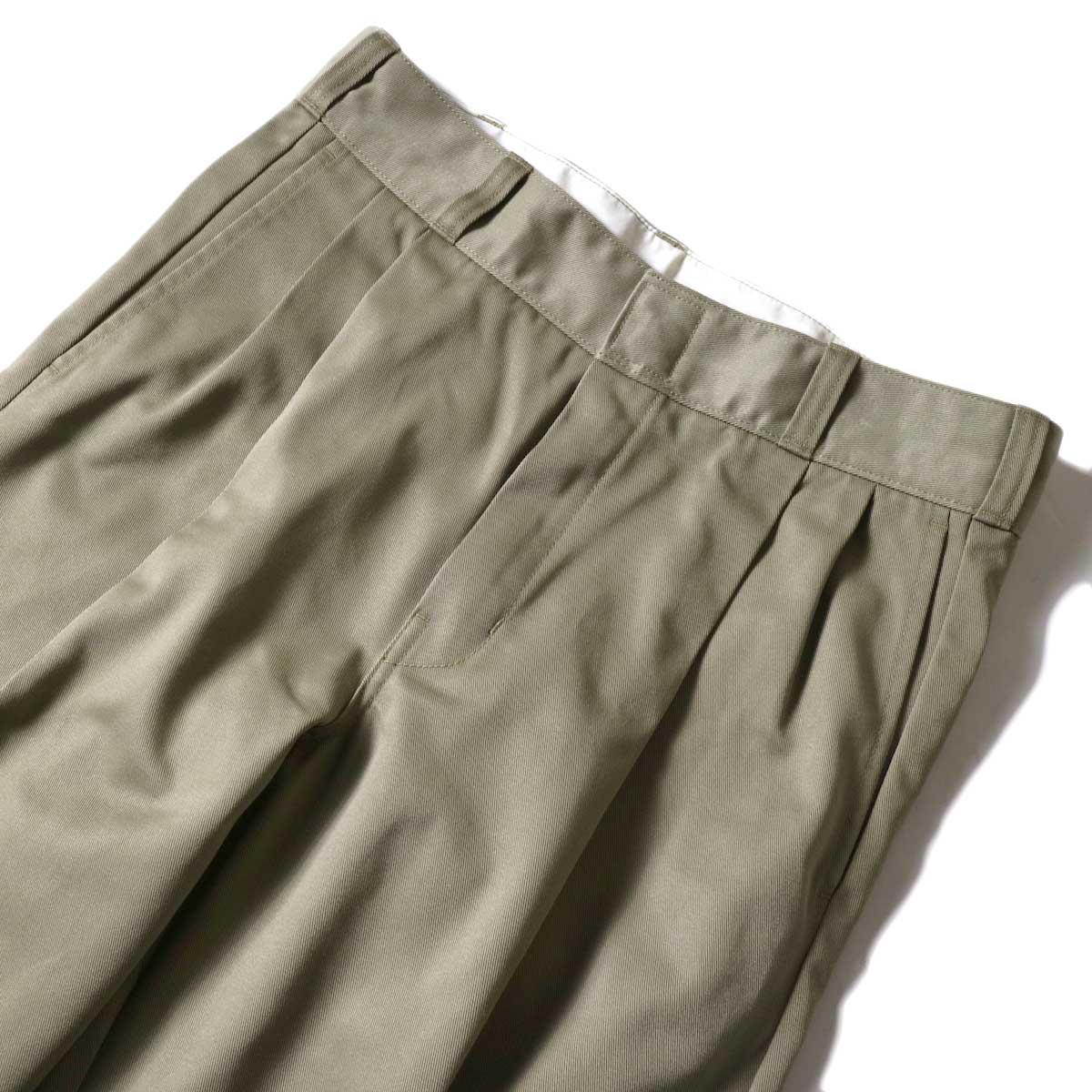 UNUSED / UW0913 Unused x Dickies  2Tuck Pants (Beige) 2タック
