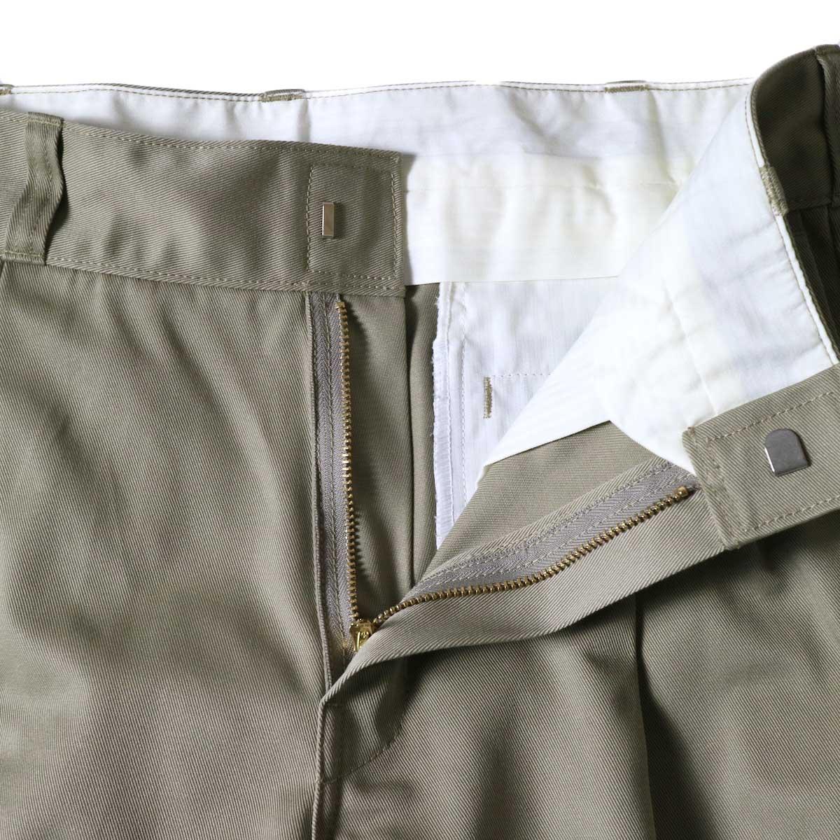 UNUSED / UW0913 Unused x Dickies  2Tuck Pants (Beige) TALONファスナー