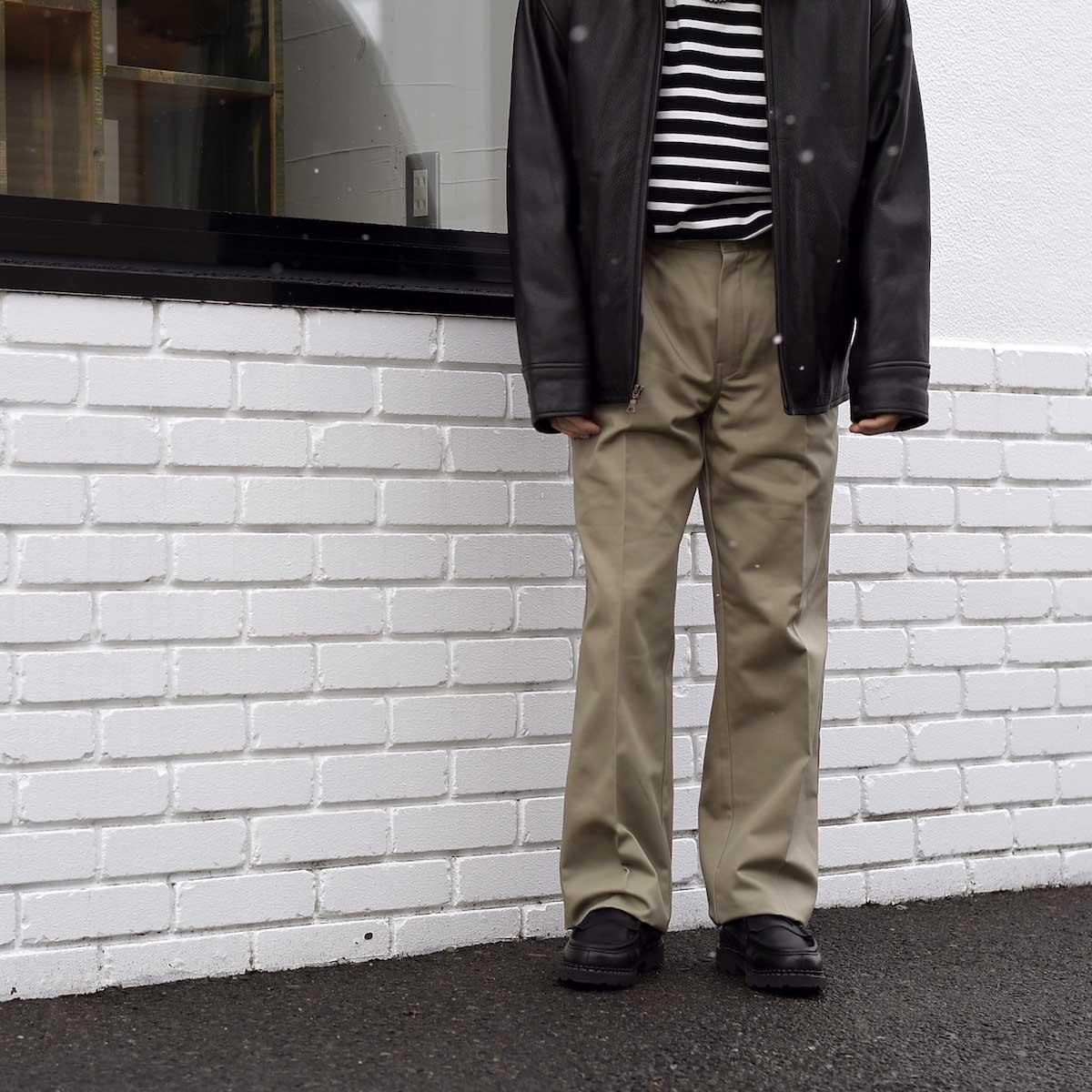 UNUSED / UW0913 Unused x Dickies  2Tuck Pants (Beige) 162cm サイズ1着用